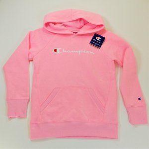 Champion Youth Girls Hoodie Medium Pink Sweatshirt